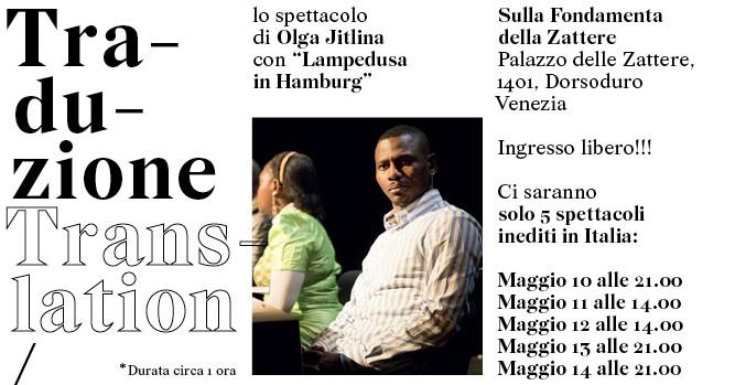 TRASLATION/TRADUZIONE uno spettacolo inedito di Olga Jitlina con Lampedusa in Hamburg