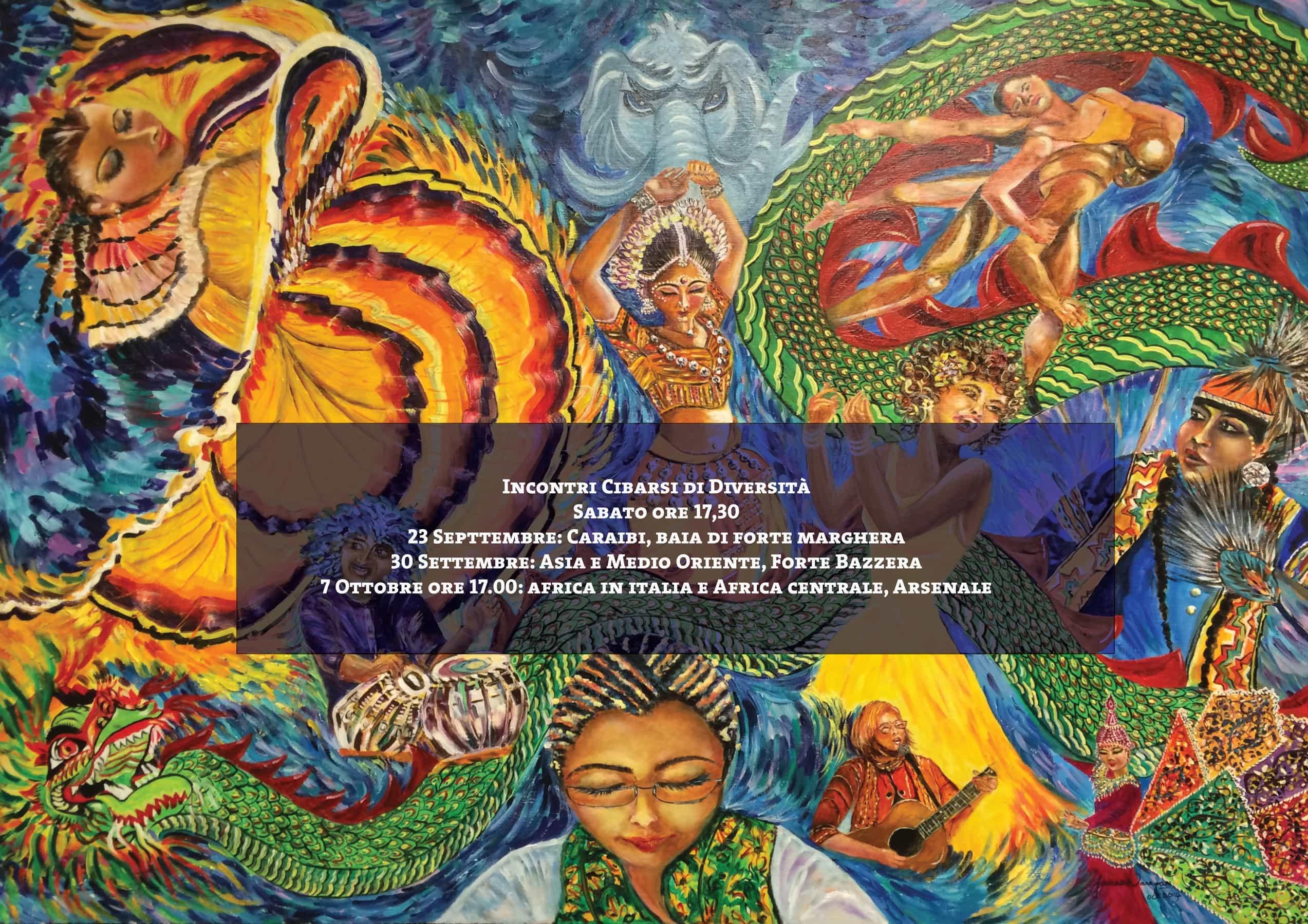 Incontro cibarsi di diversità: Caraibi
