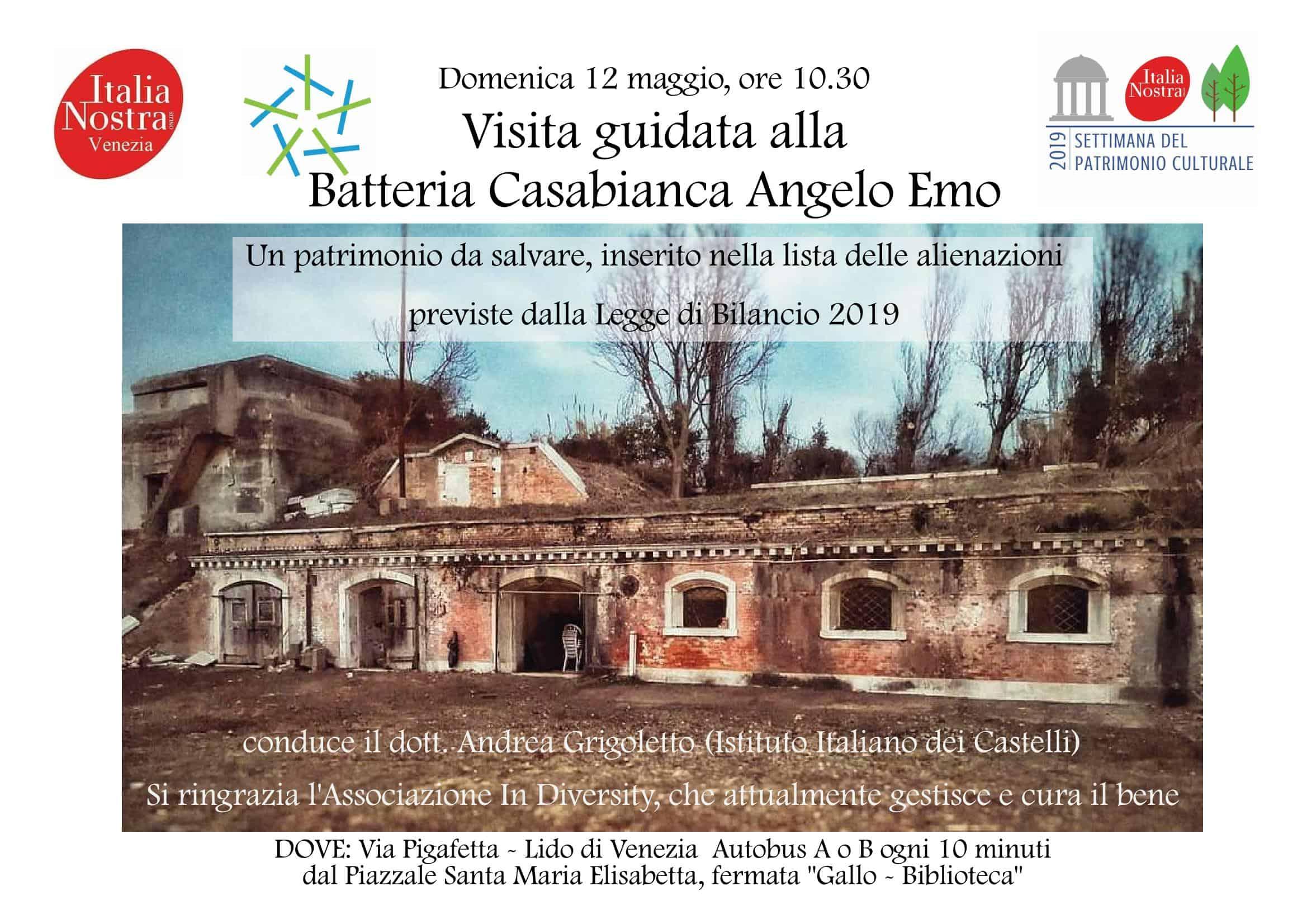 Visita guidata alla Batteria Casabianca Angelo Emo con Italia Nostra
